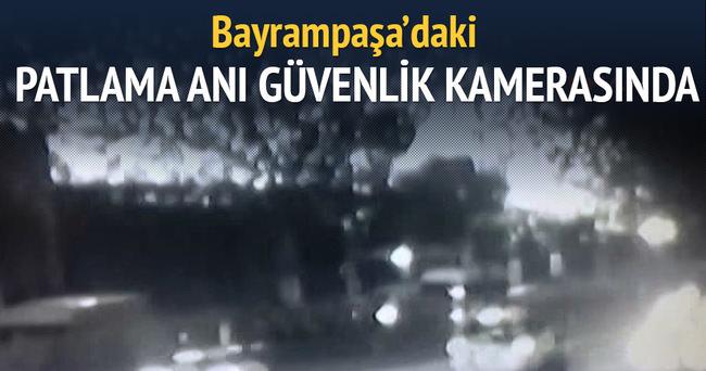 Bayrampaşa'daki patlama anı güvenlik kamerasında