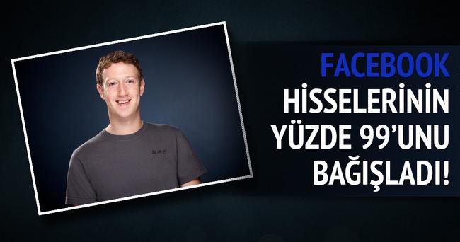 Zuckerberg Facebook hisselerinin yüzde 99'unu bağışladı