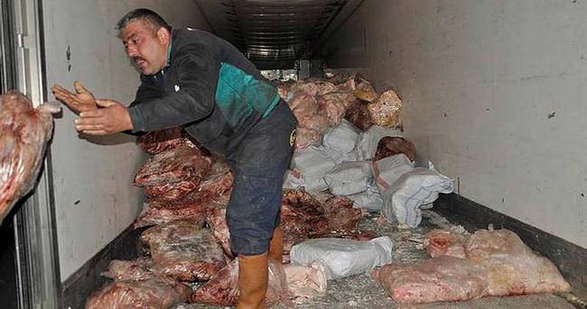 Tuzla'da 43 ton kaçak et yakalandı
