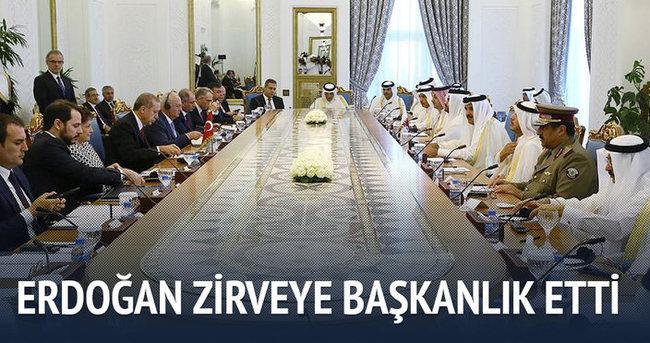 Cumhurbaşkanı Erdoğan zirveye başkanlık etti