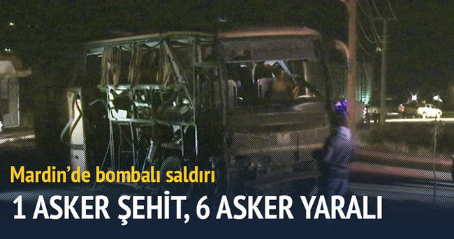 Mardin'de bombalı saldırı: 1 asker şehit, 6 asker yaralı
