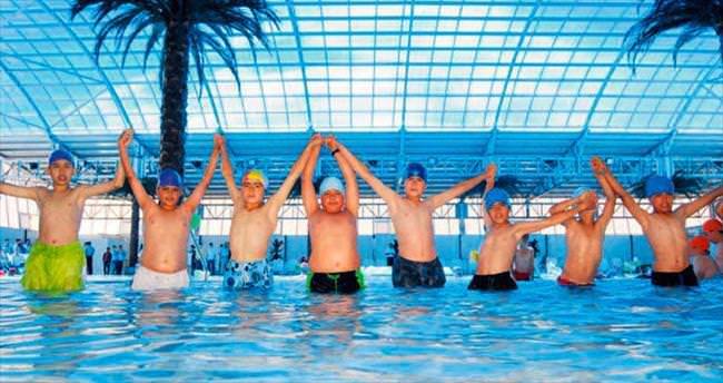 Kirmir yüzme havuzu kışa hazır