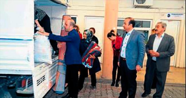 Ceyhan Belediyesi'nden Türkmenlere yardım eli