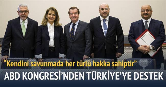 ABD Kongresi'nden Türkiye'ye destek