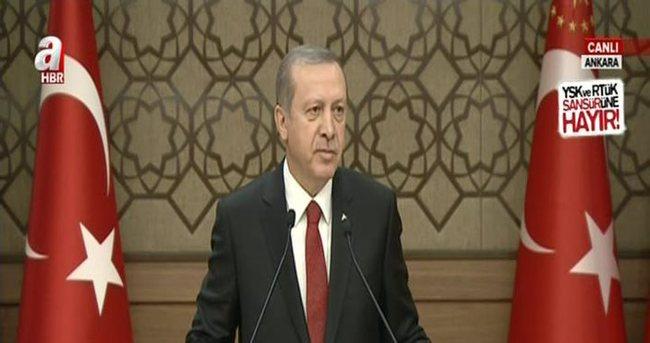 Erdoğan: Türkiye'nin zayıf olma şansı yok