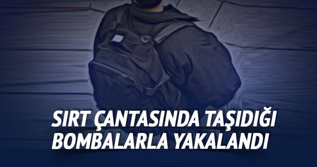 Diyarbakır'da bir kişi sırt çantasında 3 bombayla yakalandı