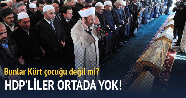 HDP'liler ölen çocukların cenazesinde yok