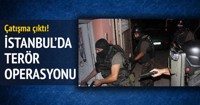 İstanbul'da terör operasyonu! Çatışma çıktı