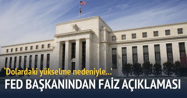 Fed Başkanı'ndan faiz açıklaması