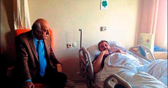 Başkan Seyfi Dingil'den hastane ziyaretleri