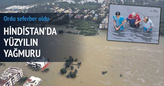 Hindistan'da yüzyılın yağmuruna 270 kurban