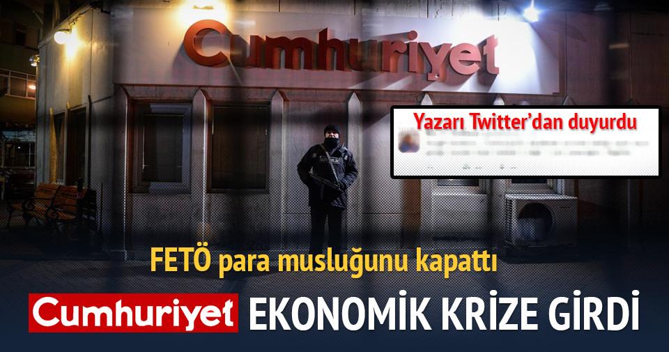 Cumhuriyet ekonomik krize girdi