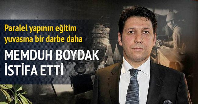 Memduh Boydak istifa etti