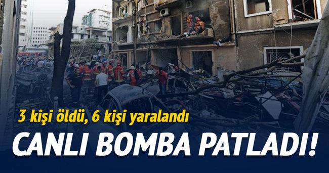 Lübnan'da canlı bomba patladı