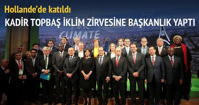 Kadir Topbaş, İklim Zirvesi'ne başkanlık yaptı