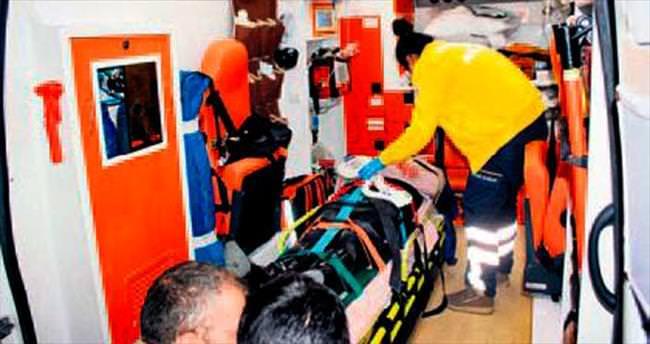Başkan yardımcısı kazada yaralandı