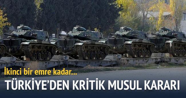 Türkiye'den yeni Musul kararı