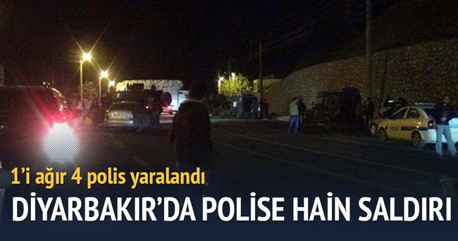 Diyarbakır'da hain saldırı: 1'i ağır 4 polis yaralı