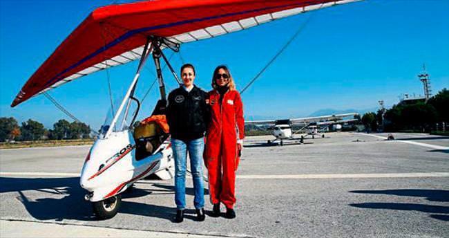 AK Kadınlar uçuş deneyimi yaşadı