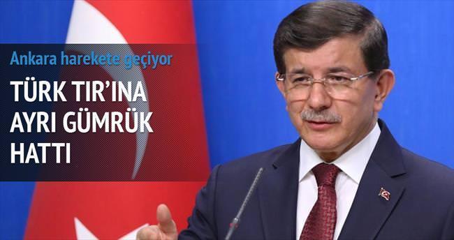 Türk TIR'ına ayrı gümrük hattı