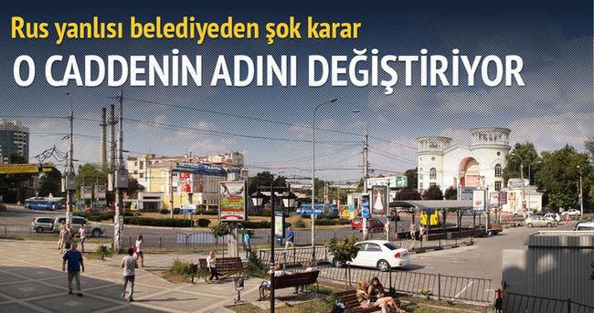 Türk Caddesi'nin adı değişiyor