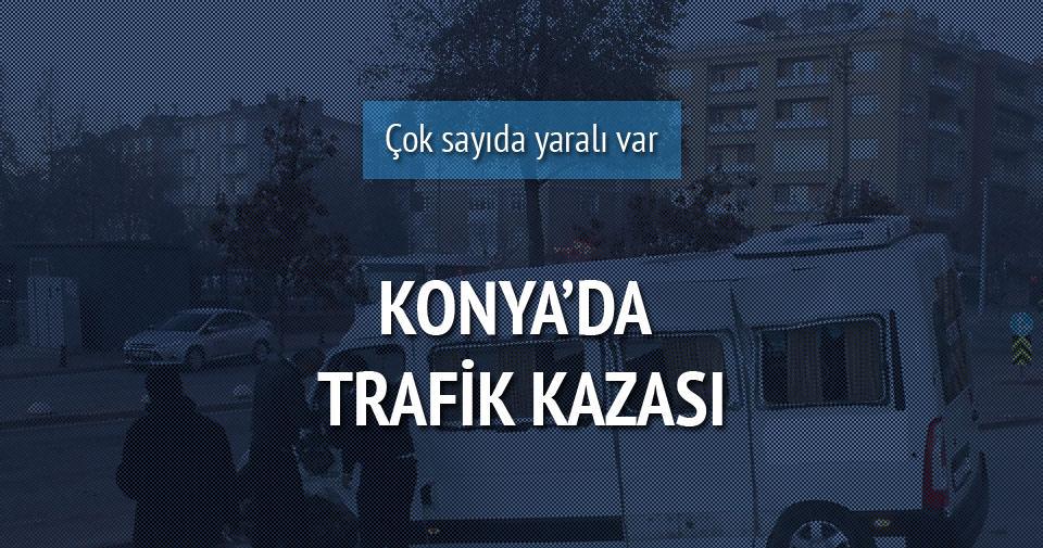 Konya'da trafik kazası: 13 yaralı!