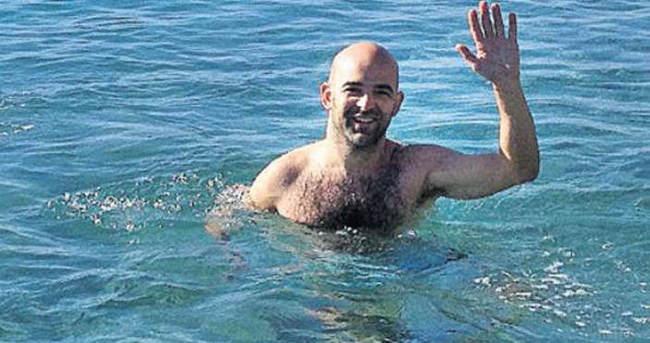 Murat Evgin'in Aralık'ta deniz keyfi