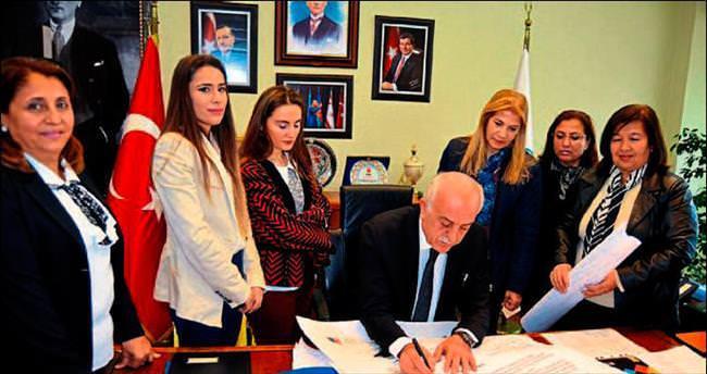 Kadın üyelere başkan desteği