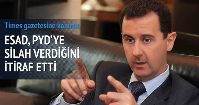 Esad, PYD'ye silah verdiğini itiraf etti
