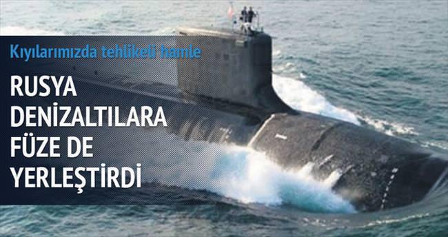 Rusya denizaltılara füze de yerleştirdi