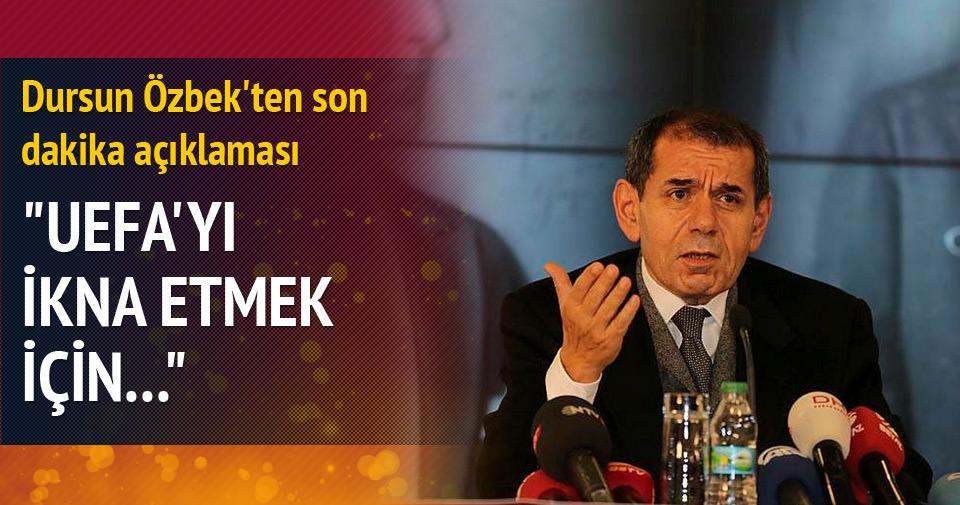 Dursun Özbek'ten UEFA itirafı