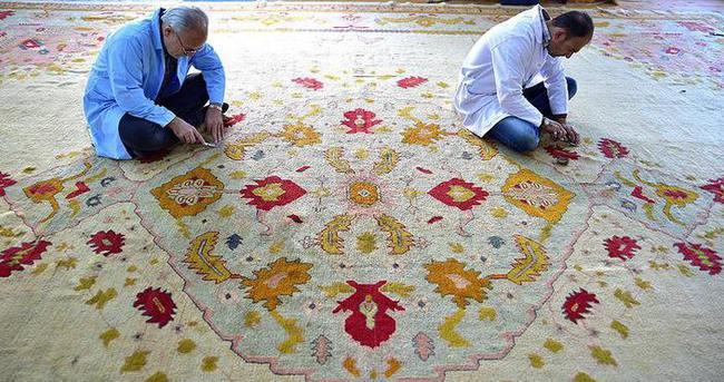 Sultan 2. Abdülhamid'in halıları restore edildi