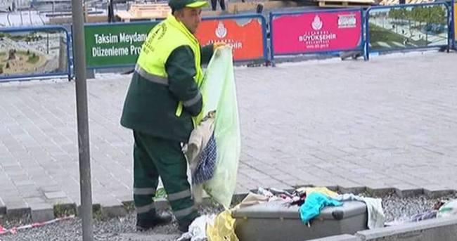 Bomba paniği değil temizlikçinin rahatlığı korkuttu!