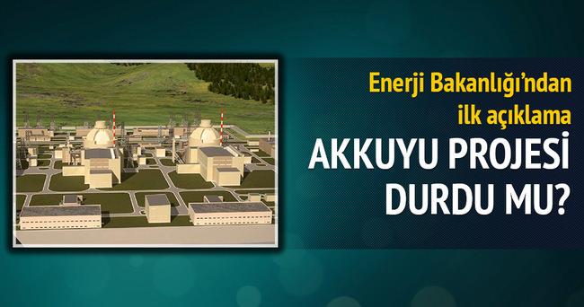 Enerji Bakanlığı: Akkuyu inşaatı devam ediyor