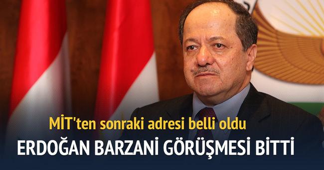 Barzani ile Erdoğan görüşmesi bitti