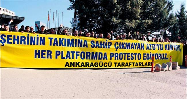 Taraftardan ATO'ya 'marka' protestosu