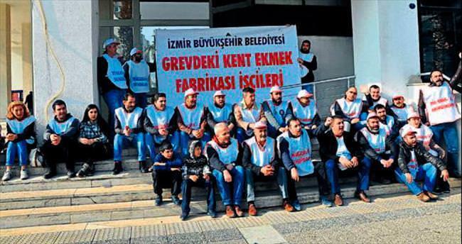Kent Ekmek işçilerinden belediye önünde eylem