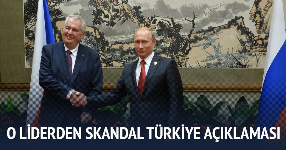 Çek lider Zeman'dan skandal Türkiye açıklaması