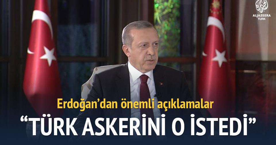 Erdoğan: Türk askerini İbadi istedi