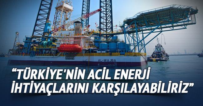 Türkiye'nin acil enerji ihtiyaçlarını karşılayabiliriz