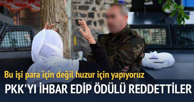 PKK'yı ihbar edip ödülü reddettiler