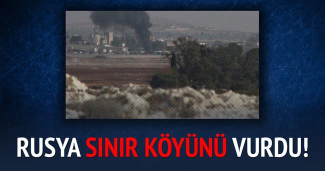 Rusya sınır köyünü vurdu