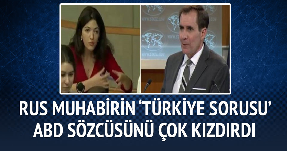 Rus muhabirin Türkiye sorusu ABD sözcüsünü kızdırdı