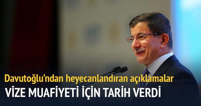 Başbakan Davutoğlu: Ekim ayında vizesiz Avrupa gelebilir