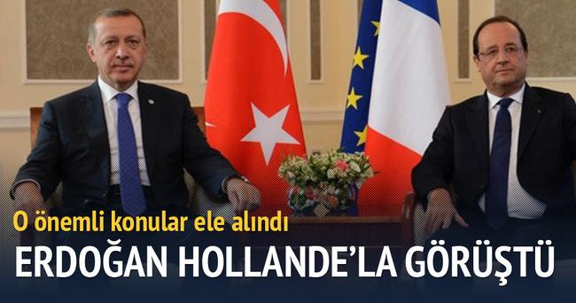 Cumhurbaşkanı Erdoğan, Hollande'la görüştü
