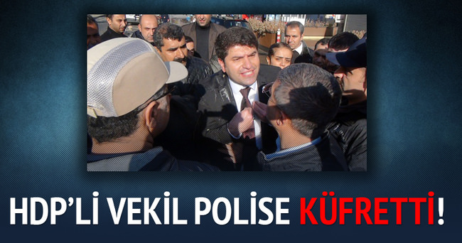 HDP'li vekilden polise küfretti