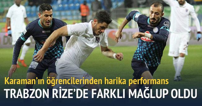 Trabzonspor Rize deplasmanında mağlup oldu