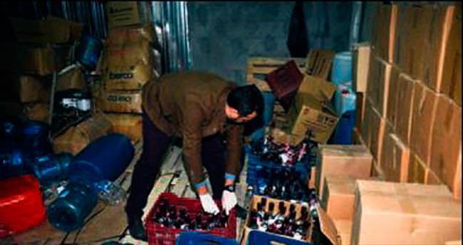 2 milyon liralık sahte içki ele geçti