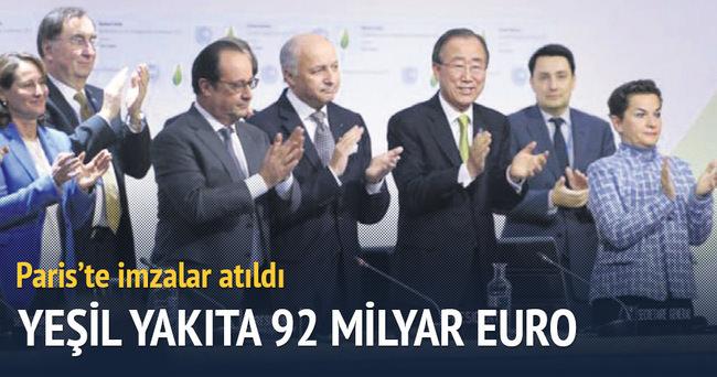 Yeşil yakıta 92 milyar euro