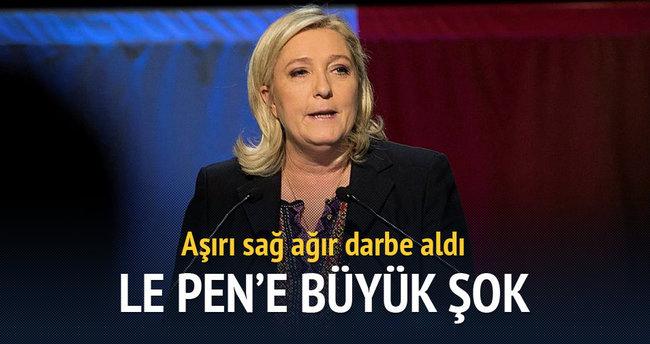 Le Pen'e ikinci turda büyük şok